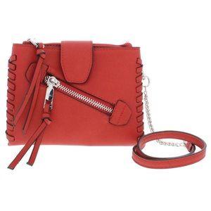 BCBG Bag Aubrey Red Mini Crossbody Clutch Zip NEW